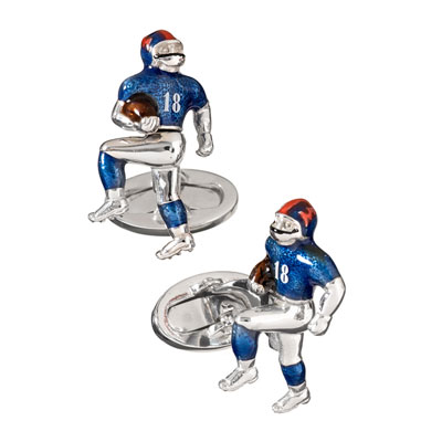 Sterling Silver Football Players