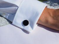 Double fold cuff with cufflink