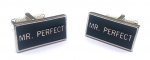 Mr. Perfect cufflinks - perfect for a casual event or night on the town