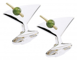 Jade martini cufflinks are great for a presidential costume