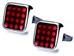 Ruby cufflinks make your vampire costume classy