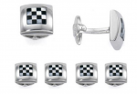 Grand Prix silver stud set