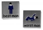 Best man humor cufflinks
