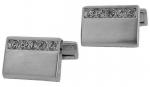 Engravable Silver Crystal cufflinks