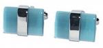Aquamarine Bar cufflinks