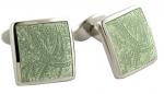 Sterling Green Paisley cufflinks