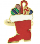 Santa's Boot cufflinks - choosing the right cufflink for holidays