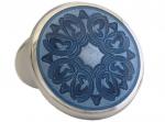 Beautiful Sterling silver blue floral cufflinks