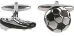 Soccer Ball and Shoe cufflinks