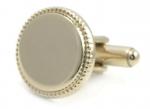 Gold Finish Engravable Cufflinks