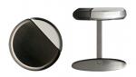 Gunmetal & Steel Cutaway Engravable Cufflinks