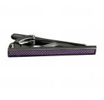 Gunmetal and Purple Fiber Tie Clip