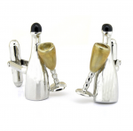 Sterling Silver Champagne Cufflinks