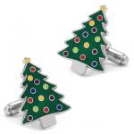 Green Christmas Tree Cufflinks
