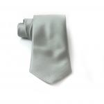 Silver Silk Necktie
