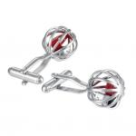 Dice Cage Cufflinks - dual post cufflinks