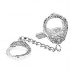 Crystal Handcuff Cufflinks - Link Posts