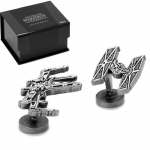 X-Wing & Tie-Fighter cufflinks (Star Wars)