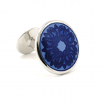 Royal Blue Floral Design BAADE II Cufflinks