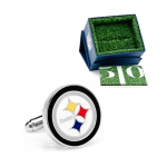 Silver Finish Pittsburgh Steelers Cufflinks