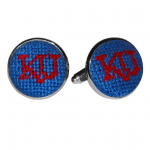 Kansas University NFL Needlepoint Cufflinks
