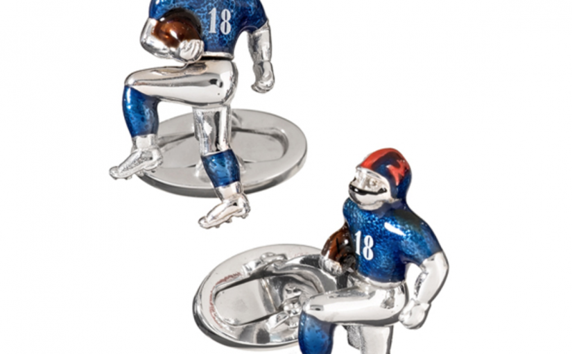 Celebrate The NFL Playoffs with Cufflinks for Your Favorite Team