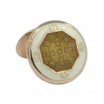 Gold Octagon BAADE II Cufflinks