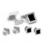 Trafalgar Onyx Inlay Square Stud Set