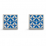 Simon Carter Blue Damask Cufflinks