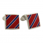 David Donahue Sterling Red Stripe Cufflinks