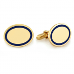 Blue Borders Vermiel Engravable Cufflinks - perfect for Valentine's Day