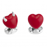 Good and Bad Heart Cufflinks - the perfect Valentine's Day gift
