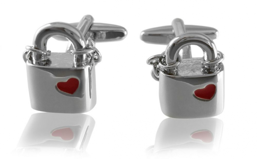 Cufflinks make a perfect Valentine's Day Gift