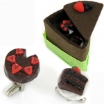 Chocolate Cake Cufflinks