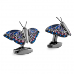Win awards with Gun Metal Tateossian Butterfly Cufflinks