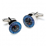 Win the award with Water Resistant Compass Cufflinks