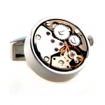 Win the award with Silver Watch Movement Cufflinks