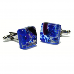 Win the award with Deep Blue Murano Glass Cufflinks