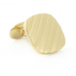 18KT Vermeil Diagonal Striped Cufflinks by David Donahue