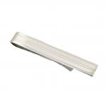 Sterling Silver Etched Stripe Tie Slide