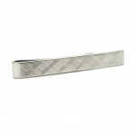 Engraved Sterling Tie Slide by David Donahue