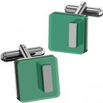 Green Lunel Acrylic Cufflinks