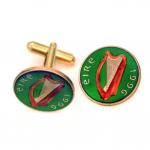 Ireland's Harp Coin Cufflinks