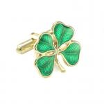4 Leaf Clover Cufflinks (Emerald Green)