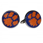 Clemson University Needlepoint Cufflinks