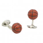 Designer Sterling Basketball Cufflinks