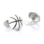 Sterling Basketball Cufflinks for March Madness