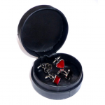 Padded Leather Cufflinks Case