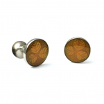 Amber Enameled Clover Cufflinks - clean and care for your cufflinks