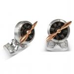 Aircraft Grade Aluminum Sopwith Propeller Cufflinks Deakin & Francis